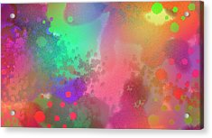 Dream In Abstract - Pointillist Digital Painting Acrylic Print