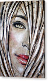 Dream In Amber 120809 Acrylic Print by Selena Boron