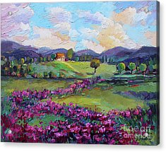 Acrylic Print featuring the painting Dream In Color by Jennifer Beaudet