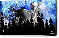 Dream Is The Space To Fly Farther Acrylic Print by Paulo Zerbato