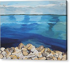 Dream Lake Acrylic Print by Annette M Stevenson