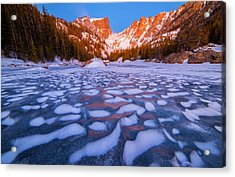 Dream Lake Dimples Acrylic Print by Darren  White