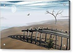 Dream Lake Acrylic Print by Richard Rizzo