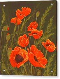 Acrylic Print featuring the painting Dream Of Poppies by Anastasiya Malakhova
