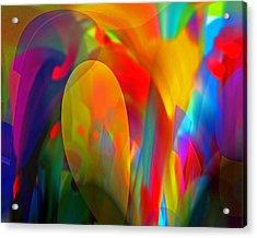 Acrylic Print featuring the digital art Dream Of Red by Lynda Lehmann