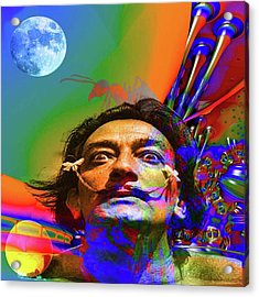 Dream Of Salvador Dali Acrylic Print by Matthew Lacey