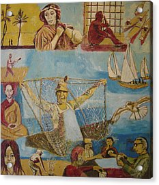 Dream Of The Fisherman Acrylic Print by Biagio Civale