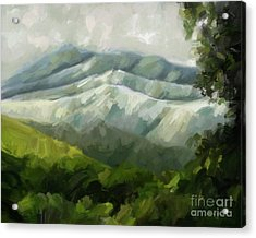 Dream Scape Acrylic Print by Carrie Joy Byrnes