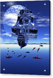 Acrylic Print featuring the digital art Dream Sea Voyager by Claude McCoy