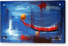 Acrylic Print featuring the painting Dream Ship by Arturas Slapsys