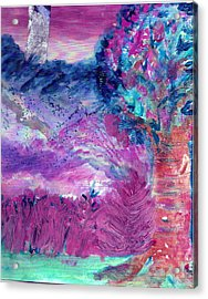 Dream Tree In Sugarland Acrylic Print by Anne-Elizabeth Whiteway