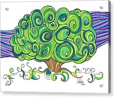 Dream Tree Acrylic Print by Michael Ciccotello