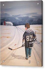 Dream Walking - The Kid Acrylic Print by Ron  Genest