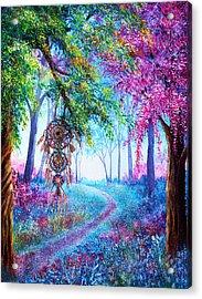 Dreamcatcher Acrylic Print by Ann Marie Bone