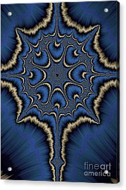 Dreamcatcher In Blue And Gold Acrylic Print