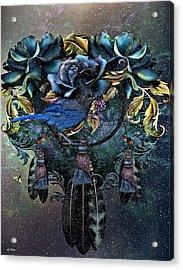 Dreamcatcher Winter Blues Acrylic Print
