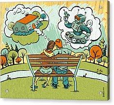 Dreamers Acrylic Print by Baird Hoffmire