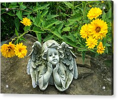 Dreaming Angel Acrylic Print