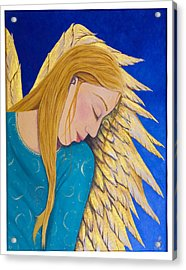 Dreaming Angel Acrylic Print by Jacqueline Lovesey