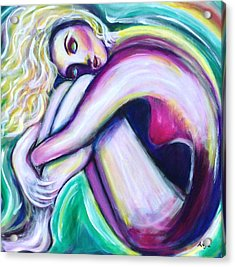 Acrylic Print featuring the painting Dreaming by Anya Heller