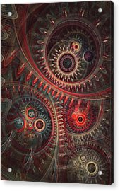 Dreaming Clocksmith Acrylic Print