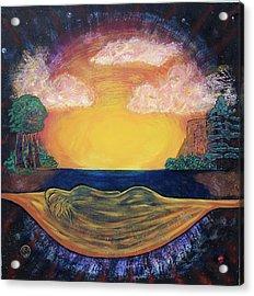 Dreaming Goddess Acrylic Print by Eric Singleton