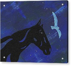 Acrylic Print featuring the painting Dreaming Horse by Manuel Sueess