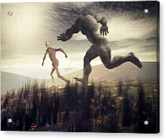 Acrylic Print featuring the digital art Dreaming Of A Nameless Fear by John Alexander