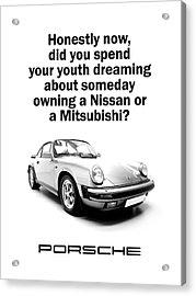 Dreaming Of A Porsche Acrylic Print