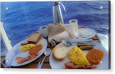 Acrylic Print featuring the photograph Dreaming Of Breakfast At Sea by DigiArt Diaries by Vicky B Fuller