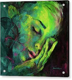 Dreaming Of Butterflies Acrylic Print by Dorina Costras