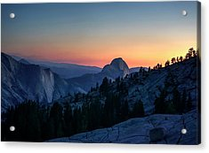 Acrylic Print featuring the photograph Dreaming Of Climbing Half Dome by Peter Thoeny