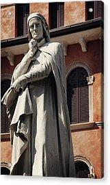 Dreaming Of Dante Verona Italy Acrylic Print by Carol Japp