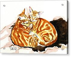 Dreaming Of Ginger - Orange Tabby Cat Painting Acrylic Print