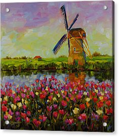 Acrylic Print featuring the painting Dreaming Of Holland by Chris Brandley