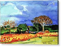 Acrylic Print featuring the painting Dreaming Of Malawi by Dora Hathazi Mendes