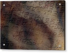 Dreaming Of Words Acrylic Print by Vicki Ferrari