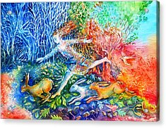 Dreaming With Hares Acrylic Print