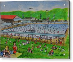 Dreamland Pool Summer 1948 Acrylic Print