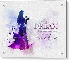 Dreams Can Come True Acrylic Print by Rebecca Jenkins