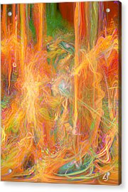 Dreams In Color Acrylic Print by Linda Sannuti