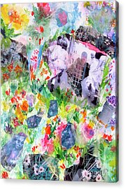 Acrylic Print featuring the mixed media Dreams Of Love And Other Fateful Encounters by Beth Saffer