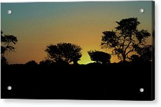 Dreams Of Namibian Sunsets Acrylic Print by Ernie Echols