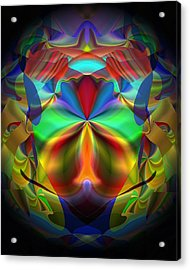 Acrylic Print featuring the digital art Dreams Of The Future by Lynda Lehmann