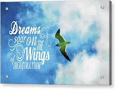Acrylic Print featuring the photograph Dreams On Wings by Jan Amiss Photography