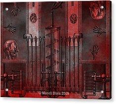 Dreamtime Of The Mechanism Acrylic Print by Mandi Blais