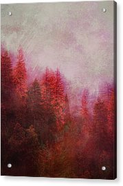 Acrylic Print featuring the digital art Dreamy Autumn Forest by Klara Acel