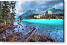 Acrylic Print featuring the photograph Dreamy Chateau Lake Louise by John Poon