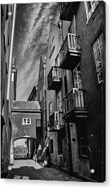 Dreamy Dawna Street Warsaw Acrylic Print by Carol Japp