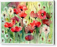Dreamy Hot Summer Fields Acrylic Print